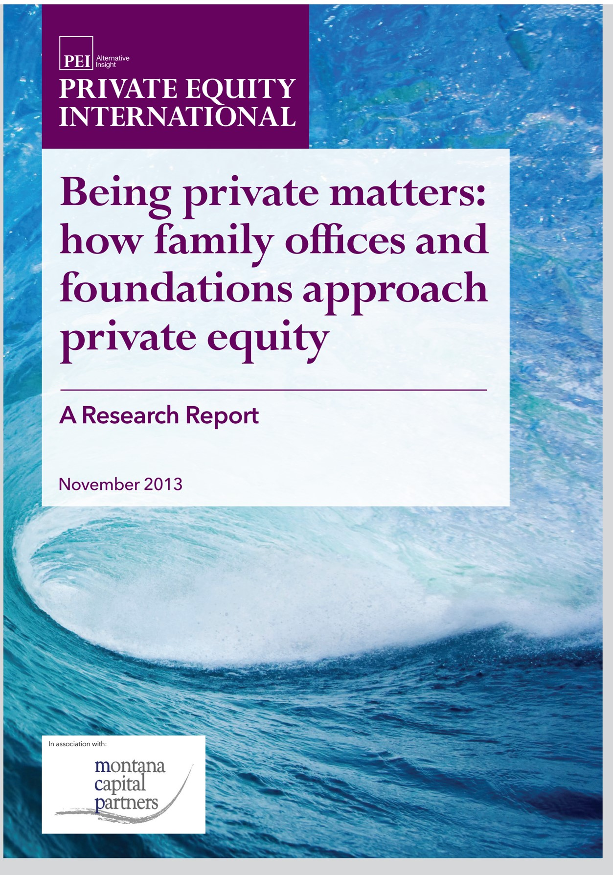mcp PEI Studie zu Family Offices & Stiftungen 2013 ...